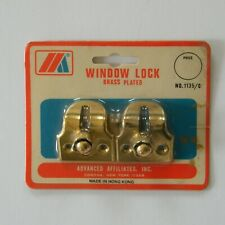 Vintage Brass Plated Window Locks Set of 2 Advanced Affiliates No. 135/C