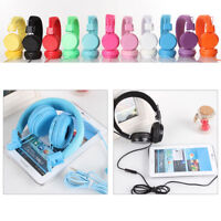 Kids/Children Headset  Earphones Over Wired Ear Headphones for iPad Tablet KF