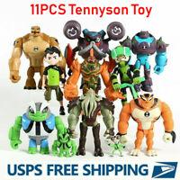 10Pcs/set Tennyson Four Arms Heatblast Cake Toppers Ben 10 Action Figures Toy US