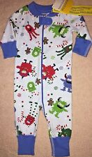 NWT HANNA ANDERSSON Pajamas Sleeper Baby Boy Monsters Christmas 50 0 3 mo Blue