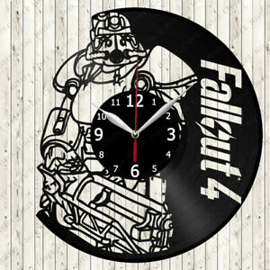 Fallout 4 Vinyl Record Wall Clock Decor Handmade 6283