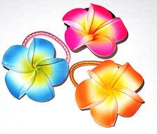 LOT DE 3 ELASTIQUE A CHEVEUX FLEUR HAIR ELASTIC flower Tiaré Vahiné Tahiti