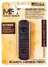 """MISSION FIRST TACTICAL MFT Tekko Series Metal KeyMod 3"""" Rail TMKMR3 V14 >NEW<"""