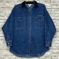 NEW YORK JEANS COMPANY Jean Jacket Denim Shirt Medium Wash Women's Size Small