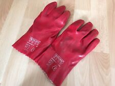 Heavy Duty Rubber Red Work Gloves - Used - Size 10 - L / XL