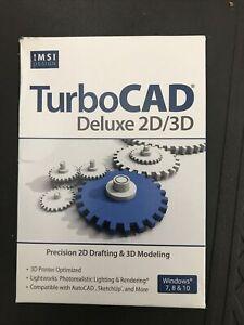 TurboCAD Deluxe 2D/3D For Windows 7, 8 & 10 Drafting & Modeling