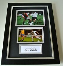 Chris Waddle Signed A4 FRAMED photo Autograph display England football & COA