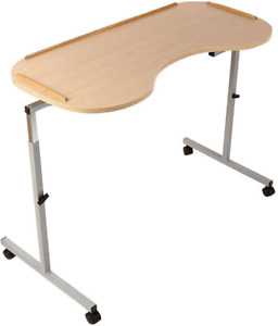 NRS Healthcare Adjustable Curved Over Bed/Chair Table
