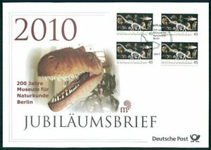 GERMANY JUBILEE-FDC 2010 MUSEUM BERLIN DINOSAURS DINOSAUR ANIMALS FISH u612
