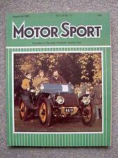 Motor Sport (Dec 1981) Mercedes 300GD, Lancia Montecarlo, Autocavan VW Golf GTi
