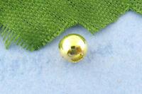 500 Vergoldet glatt Kugel Spacer Perlen Beads D.4mm
