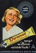 DORAMAD radioaktive Zahncreme Werbeplakat Auergesellschaft  3.Reich Nazi Kopie