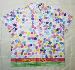 PUMA x KidSuper AOP White Shirt Limited Edition Men's Sz XL 598953-02 RARE