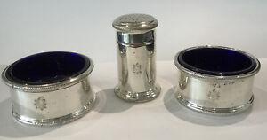 Antique Silver Plated Cruet Set By Goldsmiths & Silversmiths Ecclesiastical