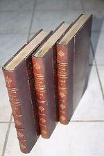 LAMARTINE GIRONDINS REVOLUTION ROMANTISME CHEVALIER 1865 3 VOL. RELIES DOS CUIR