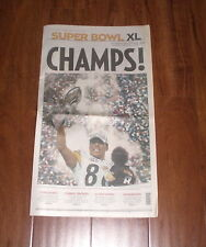 PITTSBURGH STEELERS SUPERBOWL XL CHAMPIONS TRIBUNE REVIEW NEWSPAPER 2/6/2006