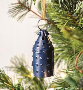 "Primitive Colonial Style MINI Paul Revere Lantern Ornament Tin Punch 3 1/2"" tall"