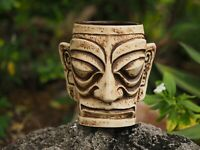 Kahiko Tiki Mug by Munktiki Imports and Kaku Kaku - Brown Glaze
