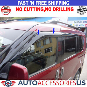 2015- DODGE RAM Promaster City Side Windows Air Rain Wind Deflector Guard 2 Pcs.