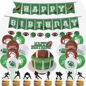 Football Happy birthday banner balloon party set AU STOCK
