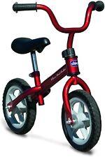 Bicicleta sin pedales con sillín regulable, color rojo, 2-5 años