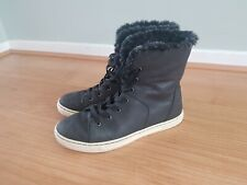 Ugg lace up boots grey size 5