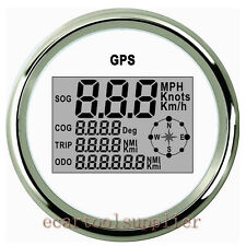 GPS Imperméable Inoxydable Compteur Vitesse Jauge Voiture Camion moto 12/24V