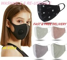 Double Layered Washable Cotton Face Mask Adjustable Mouth Cover Reusable Adult