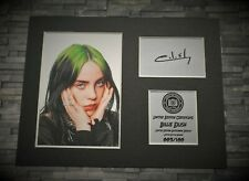 More details for billie eilish - signed autograph display print - mounted - ready to be framed