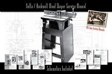 Delta/Rockwell Wood Shaper Owners Service Manual Parts Lists Schematics etc.