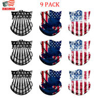 9pcs US Flag Face Mask Balaclava Biker Motorcycle Helmet Neck Sport Bandanas Lot