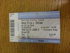31/03/2012 Ticket: Aston Villa v Chelsea  . Thanks for viewing this item, we try
