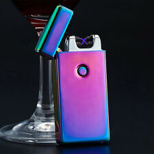 Electric DOUBLE ARCH PULSE PLASMA LIGHTER Flameless Metal Cigarette USB Gift AUE