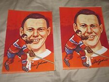 2 TOM JOHNSON AUTOGRAPHED PHOTO CANADIENS-DECEASED HALL OF FAME HOF