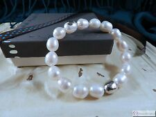 SILPADA B2894~ Shine On Pearl and Sterling Silver Stretch Bracelet