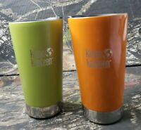 2 Kleen Kanteen Vacuum Insulated Stainless Steel Tumbler Coffee Cup Mug Lot