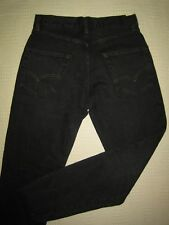 Levi's Vintage 60s 502 style jeans.  Black over dyed, red line selvedge 27W/30L