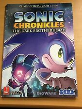 SONIC CHRONICLES THE DARK BROTHERHOOD SEGA PRIMA OFFICIAL GAME STRATEGY GUIDE