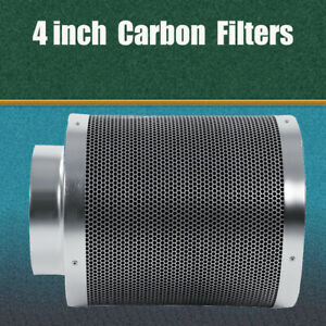 """4"""" Hydroponic Grow Tent Carbon Filter Activated Charcoal Odour Smell Removal"""
