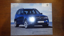 2004 BMW X3 SUV SAV Accessories Brochure with prices