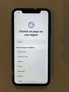 Apple iPhone XR - 64 Go - Noir Bloque iCloud