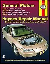 Haynes Pontiac Grand Prix 88-07 GT GTP GXP le se propriétaires Service Manual Manuel