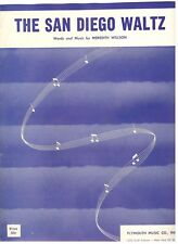 """THE SAN DIEGO WALTZ"" PIANO/VOCAL/GUITAR SHEET MUSIC-1958-RARE-BRAND NEW ON SALE"