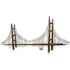 Vintage Curtis Jere Signed Brass Bridge Wall Sculpture Brutalist Mid Century