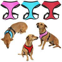 Nylon Soft Mesh Adjustable Puppy Dog Harness Vest Fabric Pet Colours XS S M L XL