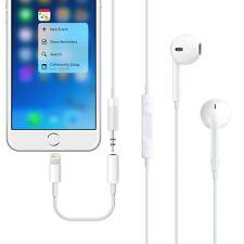 Audio AUX Adapter 8 Pin auf 3,5 Klinke für Apple iPhone 7 7 Plus Kabel Weiss Neu