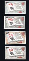 4x Notgeld BRAUNSCHWEIG Serie 10, 25, 50, 75 Pf Berühmte Persönlichkeiten 1921