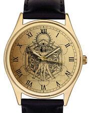 Vintage Parchment Art Masonic Cosmology Geometry Vitruvian Man Watch