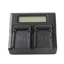 Dual Faster Charger with LCD Display for Sony NP-F550 NP-F570 NP-F770 Battery