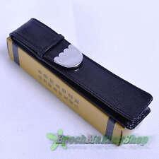 CROCODILE 1 pen black high grade Fountain Pen Leather Case new